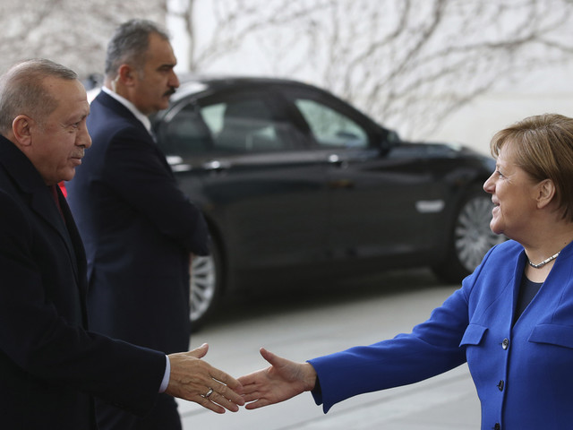 Germany's Merkel in Turkey for talks with Erdogan