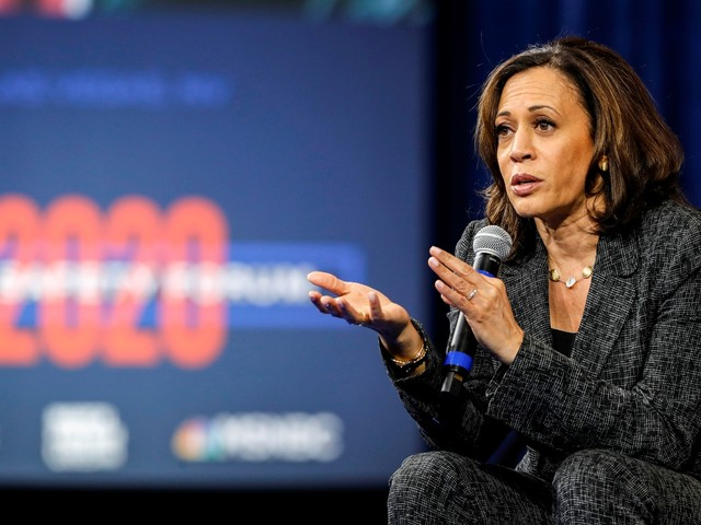 Presidential hopeful Kamala Harris on wildfires, health care, and why she's fallen behind other candidates
