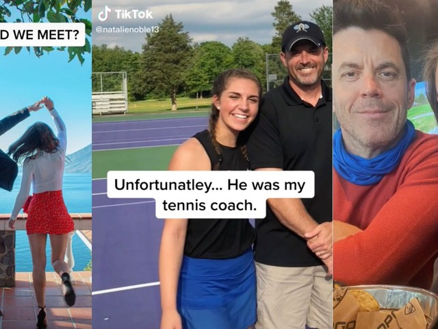 'Um honey that's grooming': Popular TikToker sparks concern after revealing her boyfriend was her tennis coach in viral video