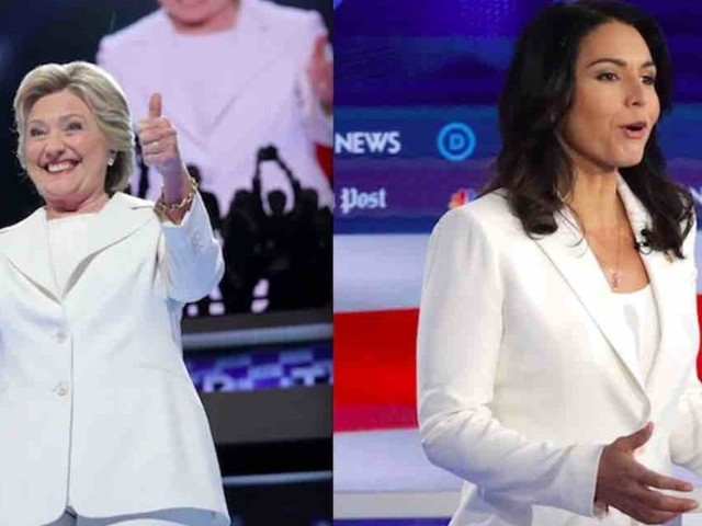 NY Times fashion critic: Hillary Clinton in white looked presidential — but Tulsi Gabbard in white? The stuff of 'cult leaders.'