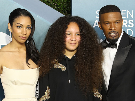 Jamie Foxx's Daughter Annalise, 10, Looks So Grown Up While Accompanying Dad At SAG Awards