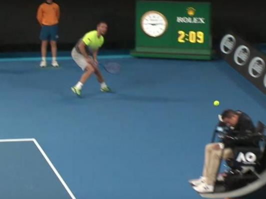 Australian Open: Viktor Troicki drills chair umpire in head with ball