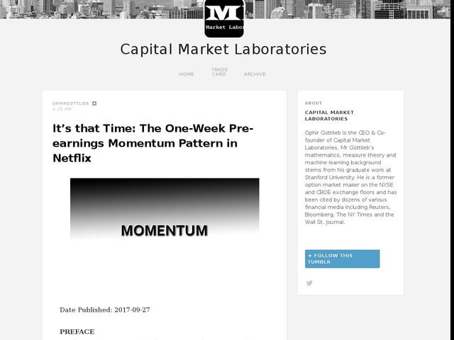 It's that Time: The One-Week Pre-earnings Momentum Pattern in Netflix