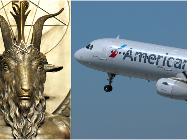 Satanic Temple members say 'HELL NO' to discrimination after American Airlines forces woman to change 'HAIL SATAN' shirt