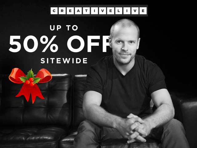 CreativeLive Up to 50% Off Site Wide   + 10% More With SLR Lounge Code