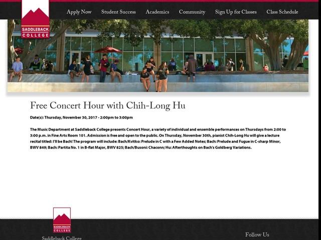 Free Concert Hour with Chih-Long Hu