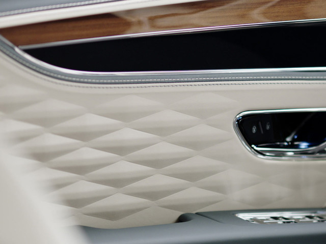 Bentley Teases New Flying Spur's 3D Textured Leather Upholstery