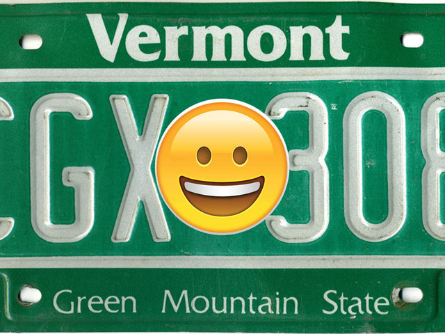 Emoji Vanity License Plates Could Soon Come To Vermont Making It The First In The U.S.