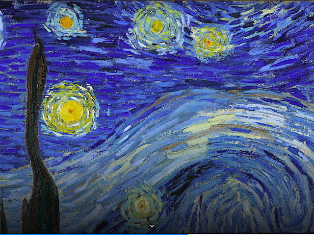 """Zoom Into a Super High Resolution Photo of Van Gogh's """"The Starry Night"""""""
