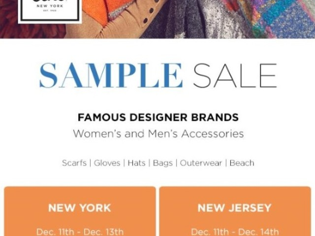ECHO Sample Sale, 12/11 - 12/14 - NYC & NJ