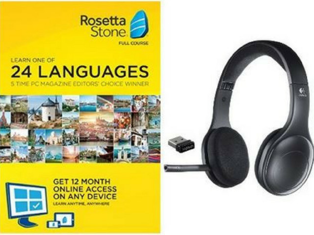 Rosetta Stone Subscription + Wireless Headset for $148.99 Shipped
