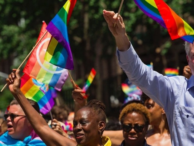 Bill de Blasio at NYC Pride Parade says gender reassignment surgeries 'absolutely' should be covered by taxpayer dollars