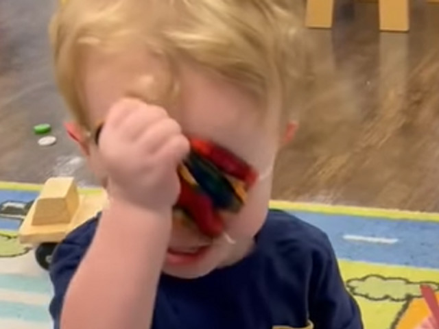Viral video of crying toddler forced to wear mask at daycare sparks massive backlash: 'This is child abuse'