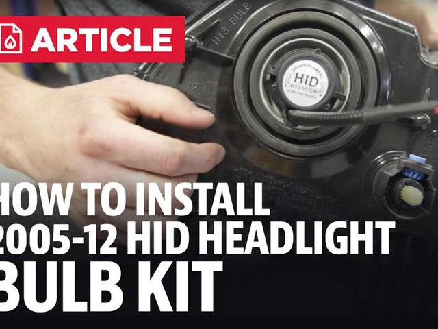 How To Install Mustang Diode Dynamics H13 HID Headlight Bulb Kit (05-12)