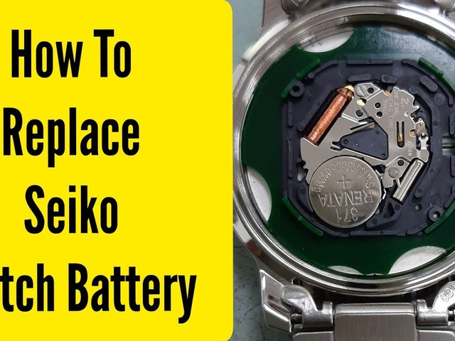 How To change replace seiko watch battery   Watch Repair Channel - YouTube