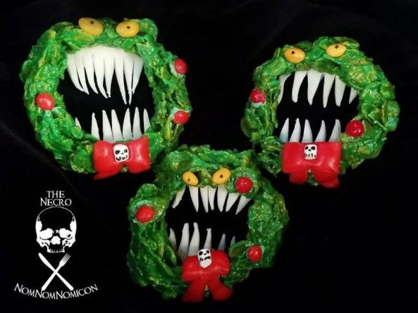 Nightmare Before Christmas Krispy Wreaths