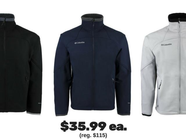 Columbia Men's Softshell Jacket, $35.99 (reg. $115)