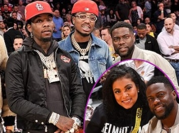 Kevin & Eniko Hart, Quavo, Offset, Kobe Bryant & More Make It A Family Night At The Lakers Game
