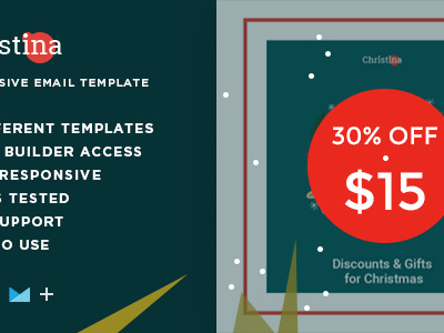 Christina – Responsive Christmas Email Bundle + StampReady Builder (Email Templates)