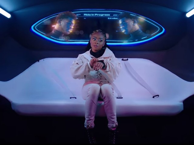 "Skai Jackson really can't escape Lil Nas X in the futuristic ""Panini"" music video"