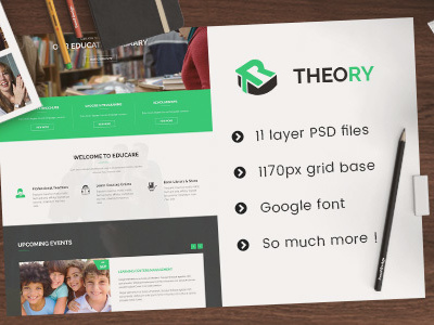 Theory - Education PSD Template (Corporate)
