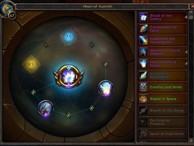 Heart of Azeroth Updates - 4th Essence at 75, Purity of the Worldsoul Infinite Trait