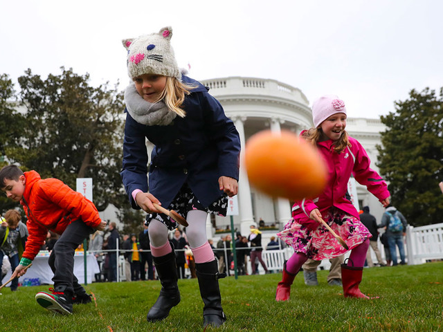 White House Easter Egg Roll live video: President Donald Trump, first lady Melania Trump welcome kids for festivities