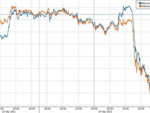 """China Declares All Virtual Currency Transactions """"Illegal"""", Sending Crypto Prices Tumbling"""