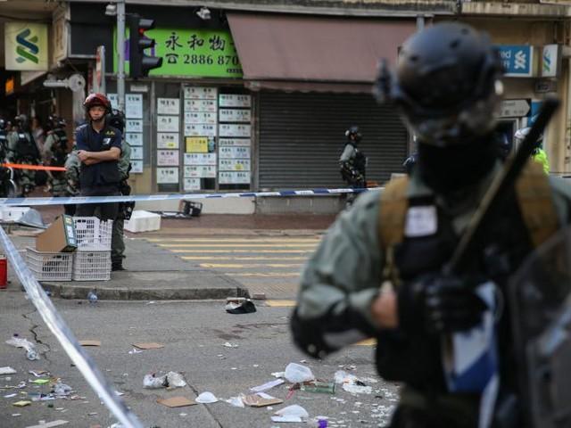 Hong Kong police shoot protester amid mass demonstrations