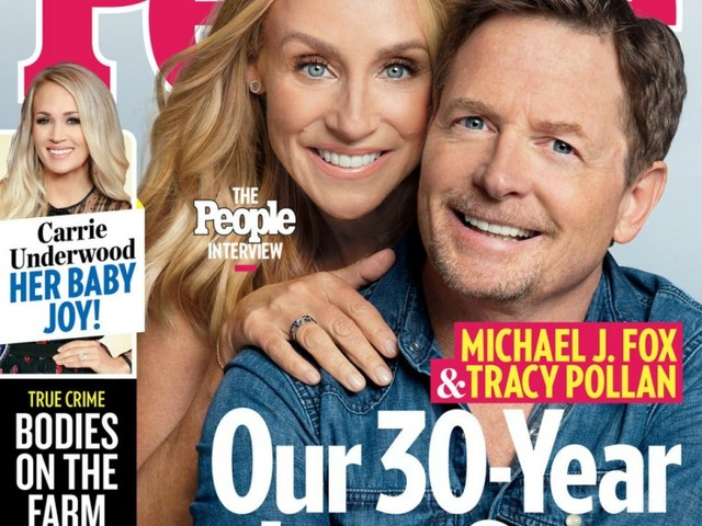 Michael J Fox and Tracy Pollan cover People: It's us against the world
