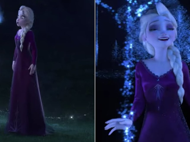"""Watch Queen Elsa Belt Out Frozen 2's Grand Wintery Number, """"Into the Unknown"""""""