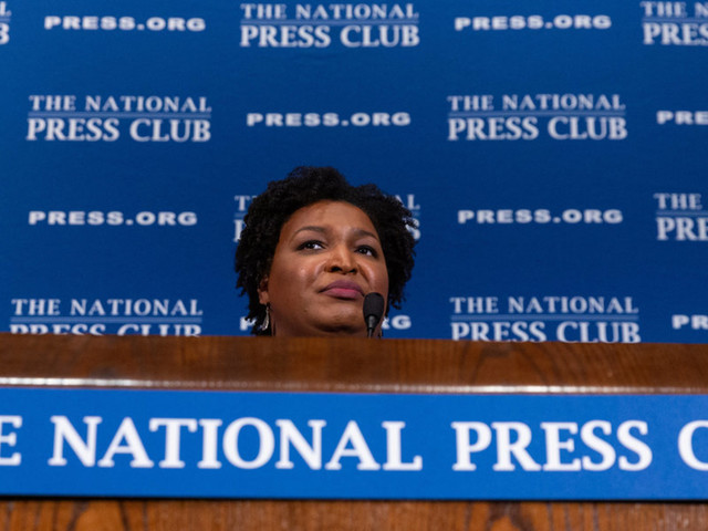 Stacey Abrams fights for relevancy by taking aim at the electoral college