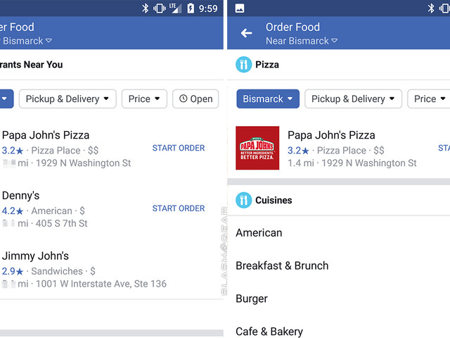 Facebook adds food ordering to fuel your social addiction