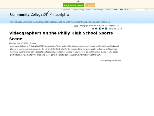 Videographers on the Philly High School Sports Scene