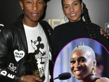 WINNERS CIRCLE: Pharrell Williams & Cynthia Erivo Snatch Up Trophies At Hollywood Film Awards