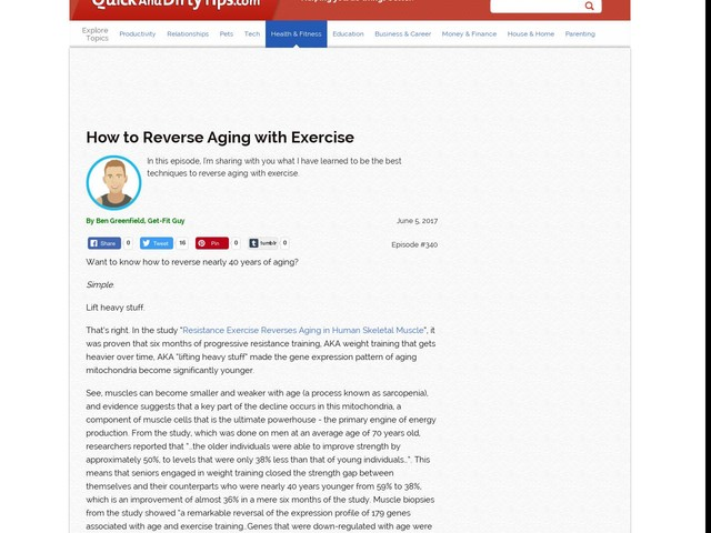 How to Reverse Aging with Exercise