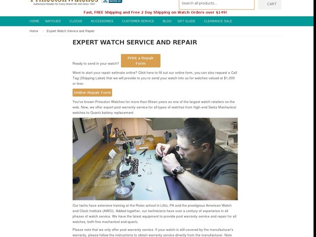 Expert Watch Service and Repair – Princeton Watches