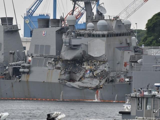 Crippled US destroyer is damaged again