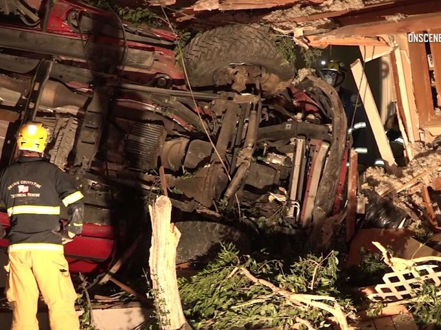 2 killed, 3 injured when SUV plows into home in Yorba Linda