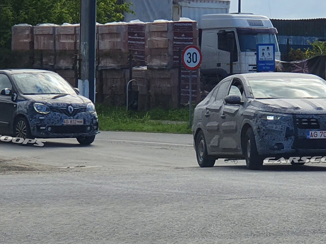 2021 Dacia Logan Spied Rubbing Shoulders With Mysterious Renault Twingo Tester
