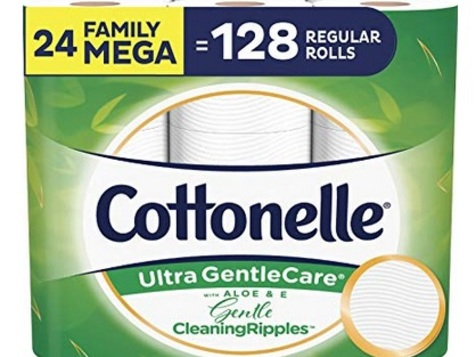 Cottonelle GentleCare Toilet Paper (24 Mega Family Rolls) only $19.49 shipped!