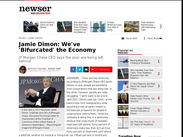 Jamie Dimon: We've 'Bifurcated' the Economy