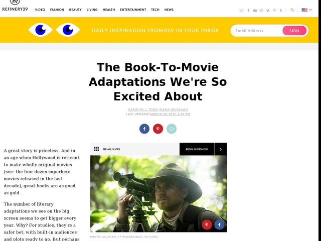 The Book-To-Movie Adaptations We're So Excited About