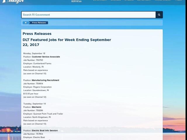 DLT Featured Jobs for Week Ending September 22, 2017
