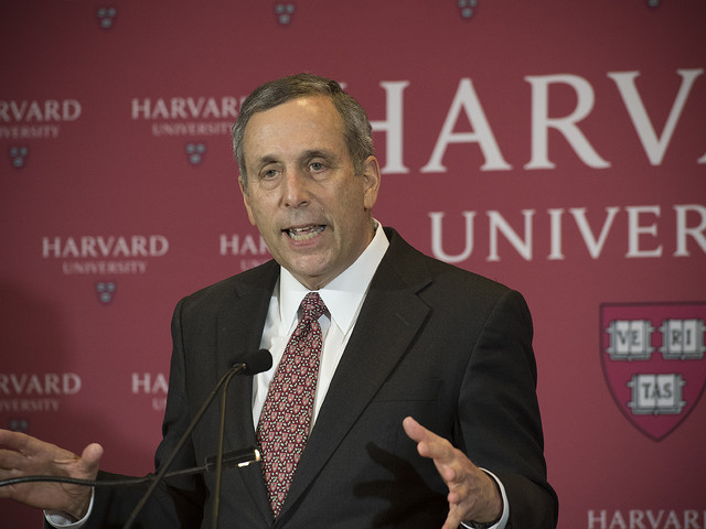Harvard Names Lawrence S. Bacow Twenty-Ninth President