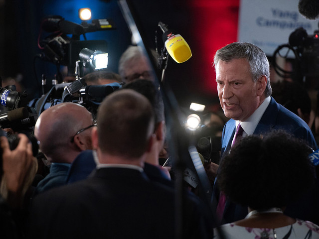 Bill de Blasio stays mum on fundraising data for 2020 bid