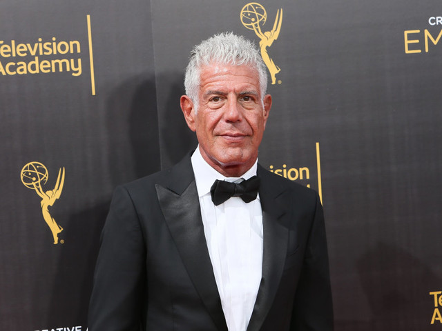 Anthony Bourdain had recently bought artwork titled 'The Sky Is Falling, I Am Learning To Live With It'