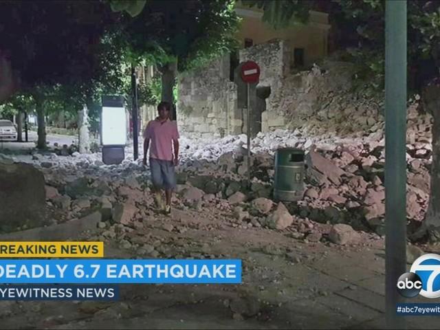 2 killed, 120 hurt in strong earthquake near Turkey, Greek islands