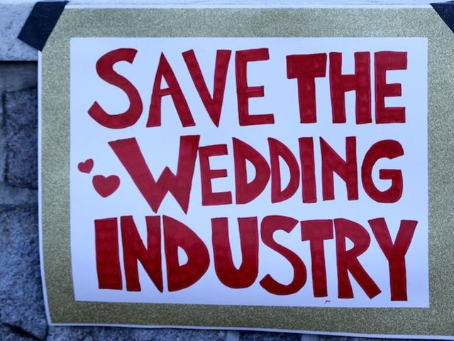 New York opens for weddings but imposes dancing rules, mandatory testing, and eating and drinking dos and don'ts. So people are taking their business elsewhere.