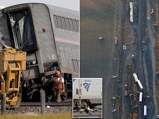 Safety expert says Amtrak derailment which killed 3 could have been caused by sudden braking